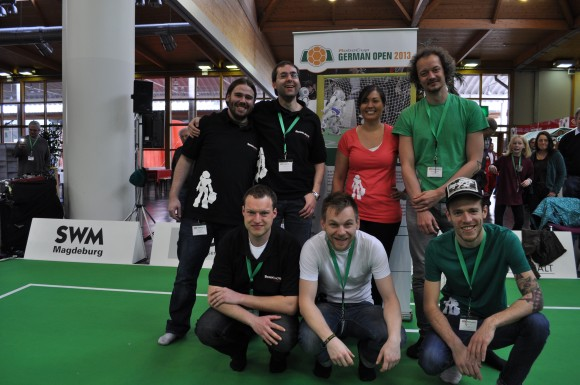 Teammitglieder bei den GermanOpen 2013